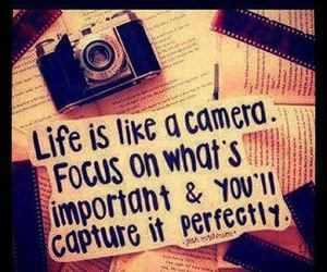 camera, life, and quote image