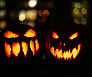 Halloween, pumpkin, and scary image