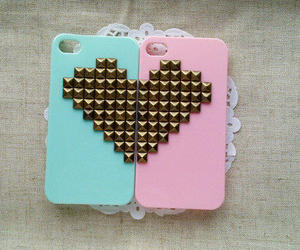 case, heart, and pink image