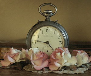 flores, flowers, and pocket watch image