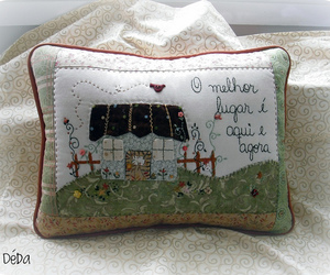 almofada, embroidery, and patchwork image