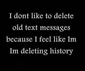 history, text, and message image