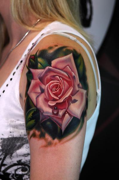 realistic, rose, and tattoo image