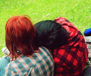 cute couple, girls, and lesbians image