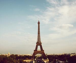 paris, eiffel tower, and sky image