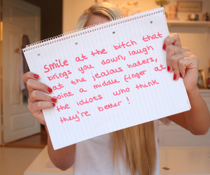 bitch, quote, and smile image