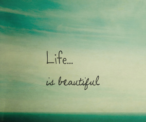 beautiful, life, and text image