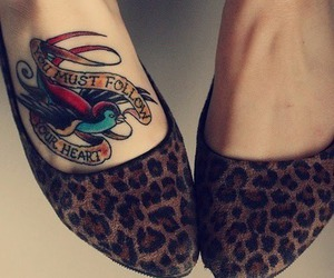 tattoo, shoes, and bird image