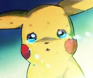 pikachu, sad, and pikapikaa image