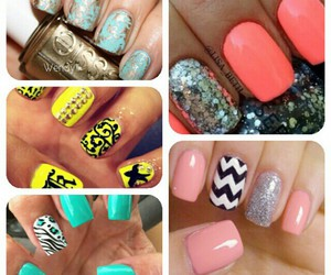 colorful, glitter, and nails image