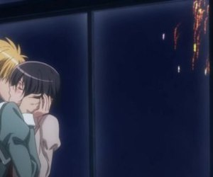 anime, kiss, and kaichou wa maid sama image