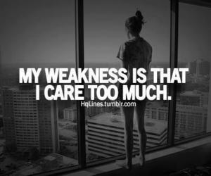 care and weakness image