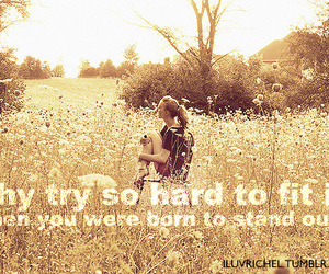 quote, girl, and stand out image
