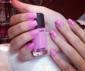 nails, pink, and mac image