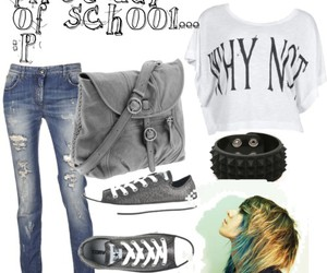 fashion, emo, and outfit image