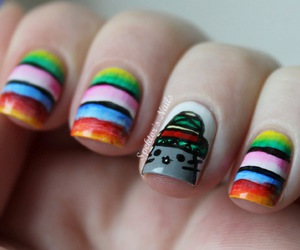 pusheen sombrero nails and mexican pusheen! image