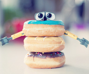 donuts, wall-e, and food image
