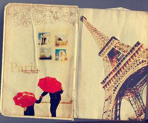paris, eiffel tower, and umbrella image