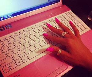 pink, nails, and sony image