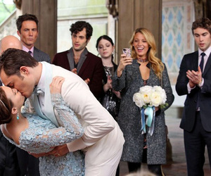 gossip girl, chuck bass, and wedding image