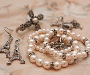 paris, pearls, and bracelet image