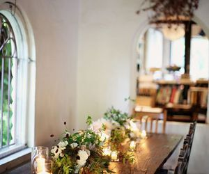 candles, pretty, and flowers image