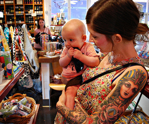 tattoo, baby, and girl image