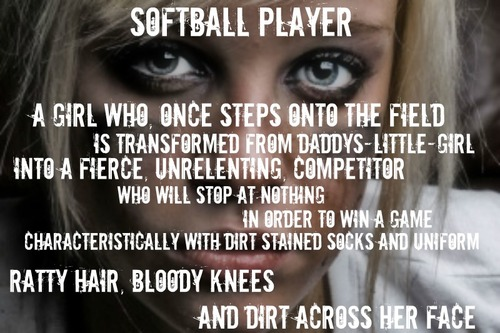 softball and quote image