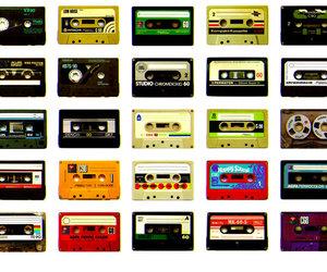 music, cassette, and retro image