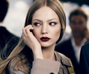 beauty, model, and lips image