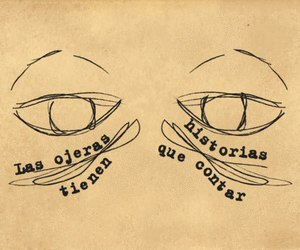 eyes, ojeras, and history image