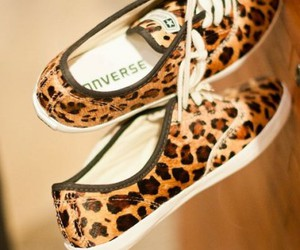 converse, shoes, and leopard image