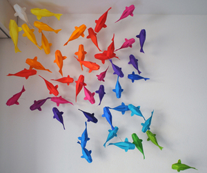 Paper, fish, and origami image