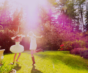 girl, friends, and sun image