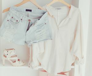fashion, shorts, and heels image