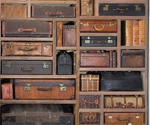 vintage, suitcase, and old image