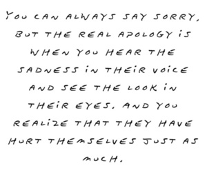 quotes, sorry, and hurt image