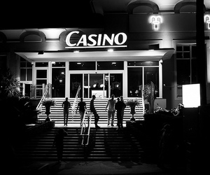 35mm, black and white, and casino image
