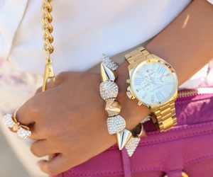 fashion, gold, and accessories image