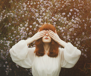 dress, florence and the machine, and flowers image