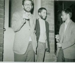 50s, new york city, and Allen Ginsberg image