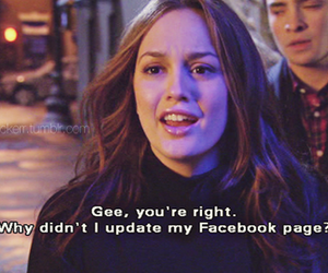 blair, leighton meester, and gossip girl quote image