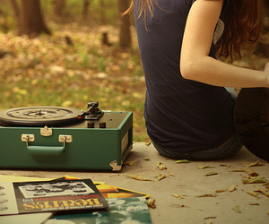 girl, music, and vintage image