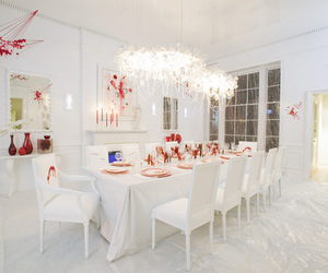 blood, Dexter, and dining room image