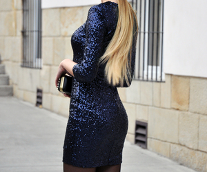 blonde, fashion, and new year's eve image