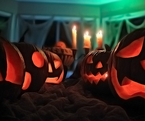 autumn, black, and trick or treat image