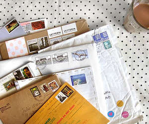 letters, mail, and stamp image