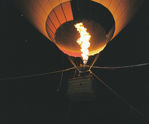 fire, photography, and balloon image
