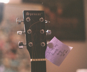 guitar, song, and music image