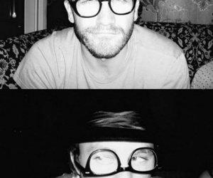 jake gyllenhaal, heath ledger, and glasses image
